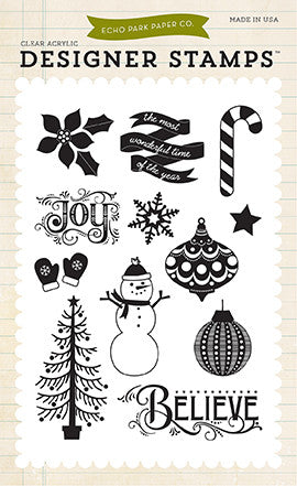 Echo Park Clear Stamp Set - The Story of Christmas - Believe