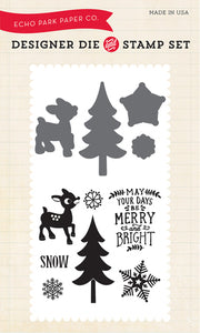 Echo Park Stamp and Die Set - The Story of Christmas - Merry & Bright