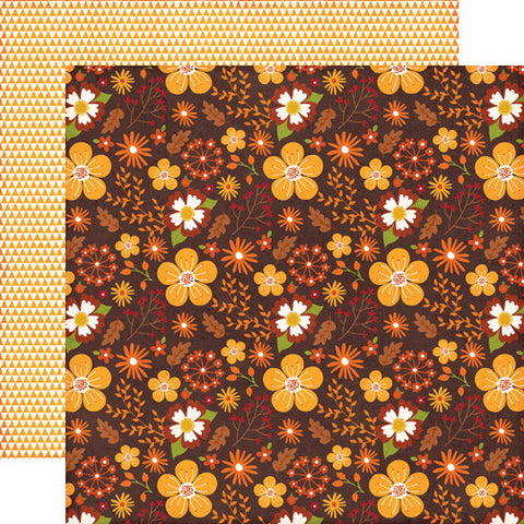 Echo Park Papers - The Story of Fall - Floral and Leaves - 2 Sheets
