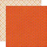 Echo Park Papers - The Story of Fall - Orange Leaf - 2 Sheets