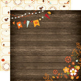 Echo Park Papers - The Story of Fall - Wood Floral - 2 Sheets