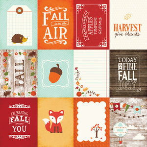 Echo Park Cut-Outs - The Story of Fall - 3x4 Journaling Cards