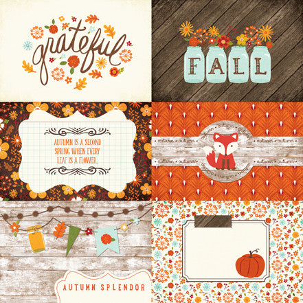 Echo Park Cut-Outs - The Story of Fall - 4x6 Journaling Cards