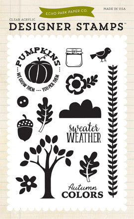 Echo Park Clear Stamp Set - The Story of Fall - Sweater Weather