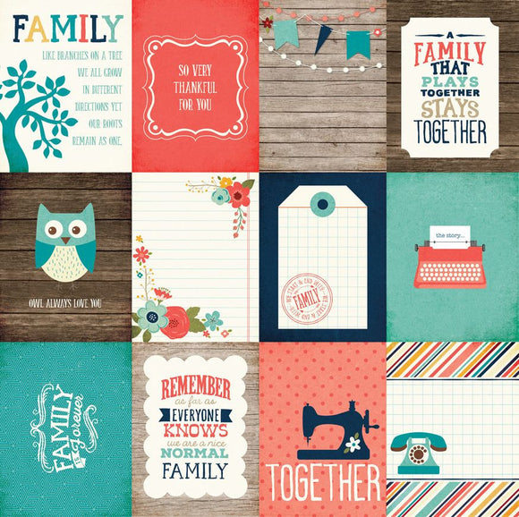 Echo Park Cut-Outs - The Story of Our Family - 3x4 Journaling Cards
