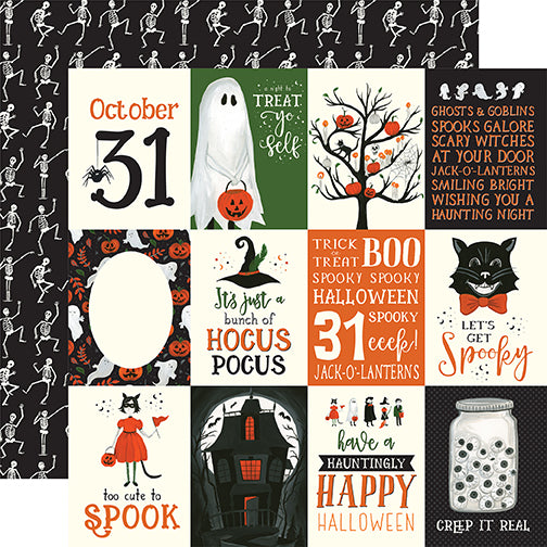 Echo Park Cut-Outs - Trick or Treat - 3x4 Journaling Cards
