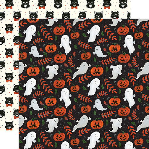 Echo Park Papers - Trick or Treat - Spooky Ghosts - 2 Sheets