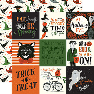 Echo Park Cut-Outs - Trick or Treat - 4x4 Journaling Cards