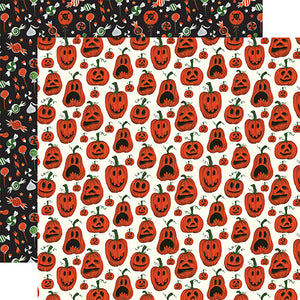 Echo Park Papers - Trick or Treat - Pumpkins - 2 Sheets