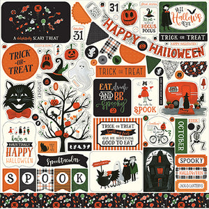Echo Park 12x12 Cardstock Stickers - Trick or Treat - Elements