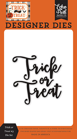 Echo Park Designer Dies - Trick or Treat - Trick or Treat #3 Die Set
