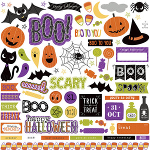 Photo Play 12x12 Cardstock Stickers - Trick or Treat - Elements