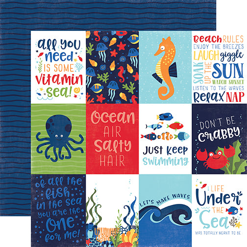 Echo Park Cut-Outs - Under the Sea - 3x4 Journaling Cards