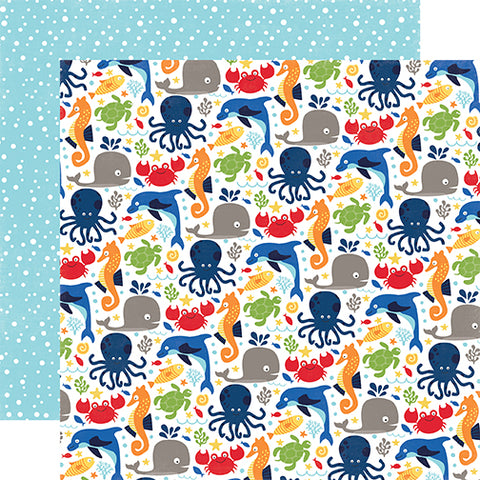 Echo Park Papers - Under the Sea - Ocean Friends - 2 Sheets