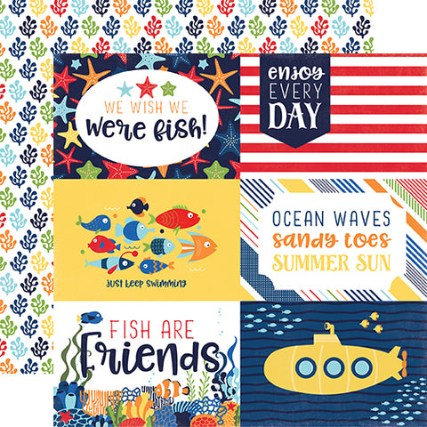 Echo Park Cut-Outs - Under the Sea - 4x6 Journaling Cards