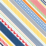 Echo Park Papers - Under the Sea - Crabby Stripe - 2 Sheets