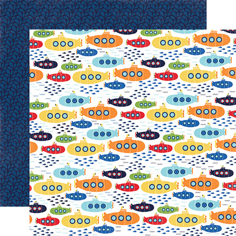 Echo Park Papers - Under the Sea - Sea Explorers - 2 Sheets