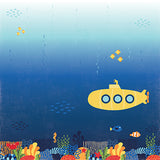 Echo Park Papers - Under the Sea - Submarine Scene - 2 Sheets