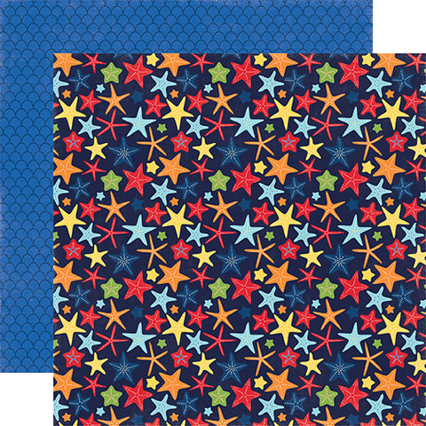 Echo Park Papers - Under the Sea - Happy Starfish - 2 Sheets