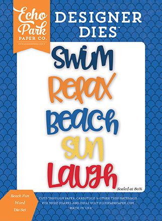 Echo Park Designer Dies - Under the Sea - Beach Fun Word Set