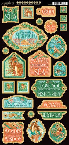 Graphic 45 Chipboard - Voyage Beneath the Sea (B)