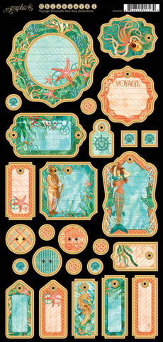 Graphic 45 Chipboard - Voyage Beneath the Sea (A)