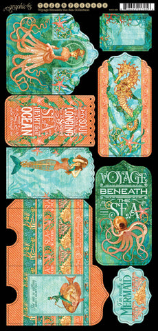 Graphic 45 Die-Cuts - Voyage Beneath the Sea - Tags & Pockets