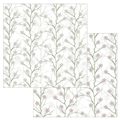 Reminisce Papers - Wedded Bliss - Cherry Blossom - Shimmer - 2 Sheets