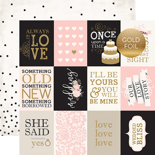 Echo Park Cut-Outs - Wedding Bliss - 3x4 Journaling Cards