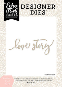 Echo Park Designer Dies - Wedding Bliss - Love Story Word Set