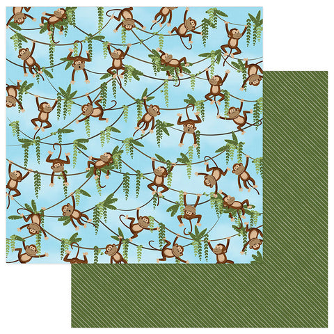 Photo Play Papers - We Bought a Zoo - Monkey Business - 2 Sheets