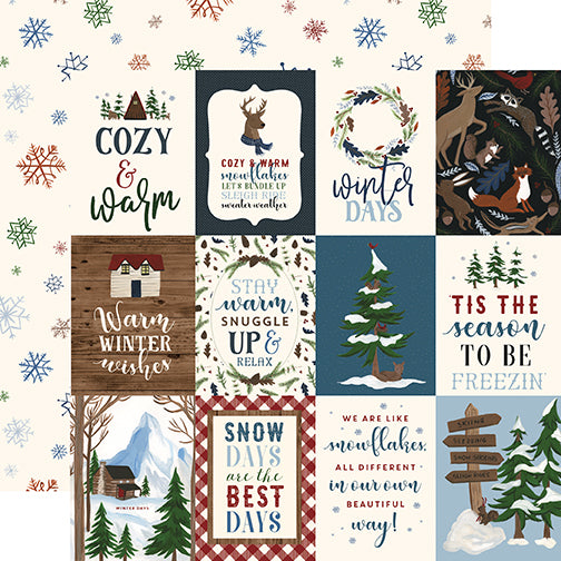 Echo Park Cut-Outs - Warm & Cozy - 3x4 Journaling Cards