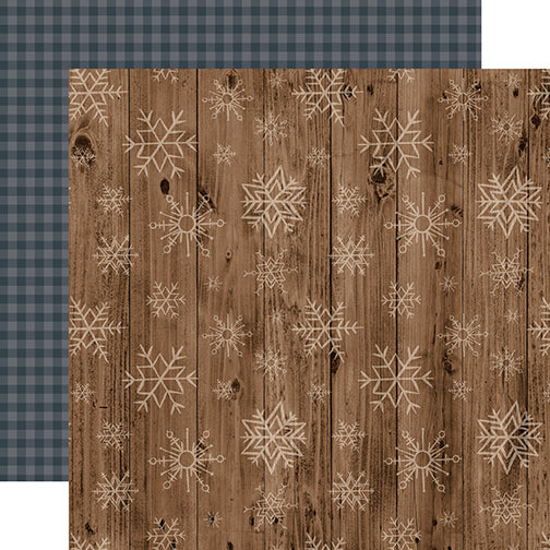 Echo Park Papers - Warm & Cozy - Wooden Snowflakes - 2 Sheets