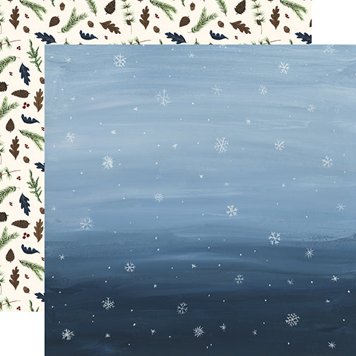 Echo Park Papers - Warm & Cozy - Snowy Sky - 2 Sheets