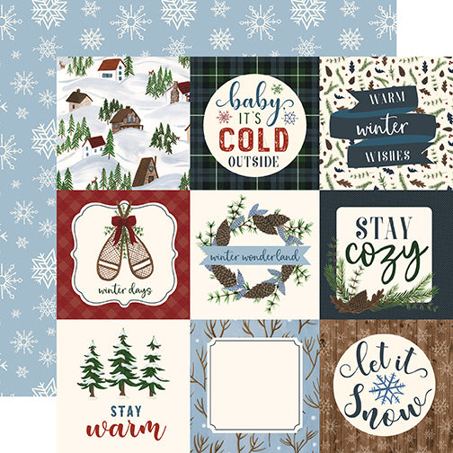 Echo Park Cut-Outs - Warm & Cozy - 4x4 Journaling Cards