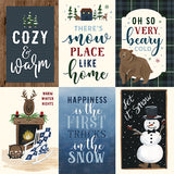 Echo Park Cut-Outs - Warm & Cozy - 4x6 Vertical Journaling Cards