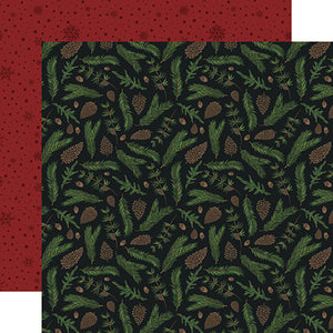 Echo Park Papers - Warm & Cozy - Pine Boughs - 2 Sheets