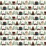 Echo Park Papers - Warm & Cozy - Cabin Village - 2 Sheets