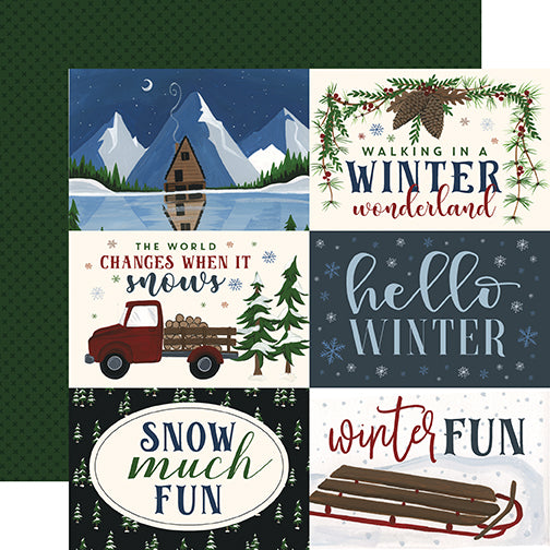 Echo Park Cut-Outs - Warm & Cozy - 6x4 Horizontal Journaling Cards