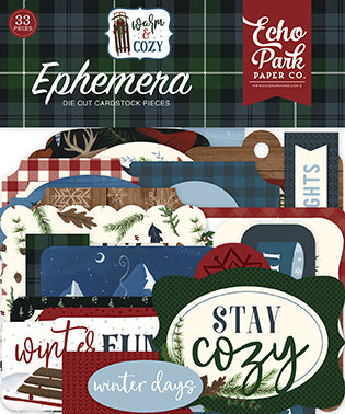 Echo Park Ephemera Die-Cuts - Warm & Cozy