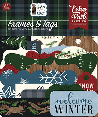 Echo Park Frames & Tags Die-Cuts - Warm & Cozy