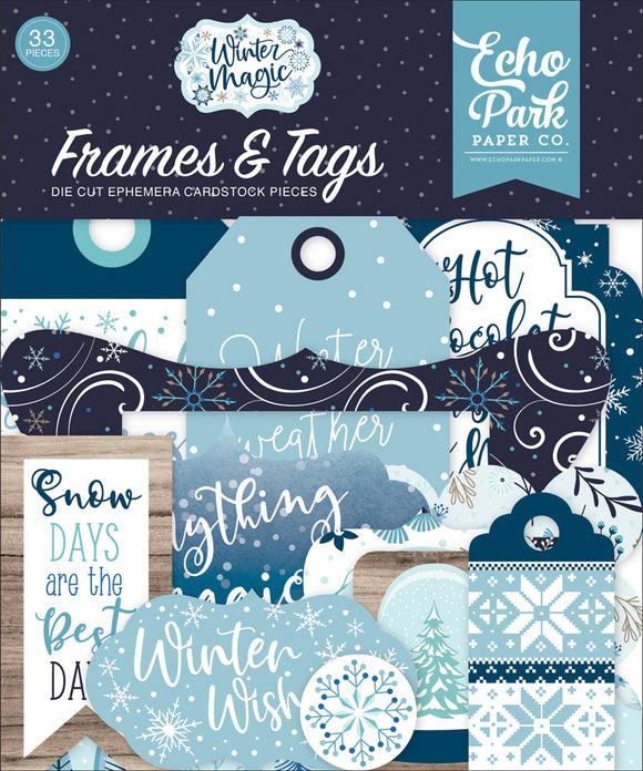 Echo Park Frames & Tags Die-Cuts - Winter Magic