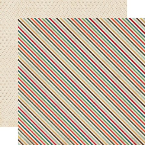 Echo Park Papers - The Wild Life - Wild Stripe - 2 Sheets
