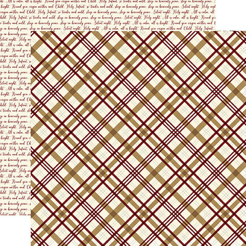 Echo Park Papers - Wise Men Still Seek Him - Peaceful Plaid - 2 Sheets