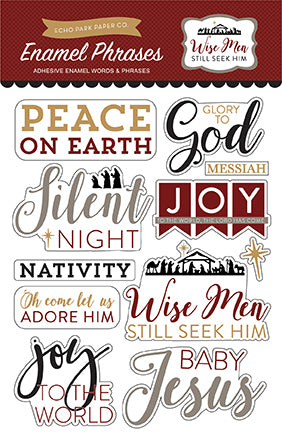 Echo Park Enamel Stickers - Wise Men Still Seek Him - Phrases
