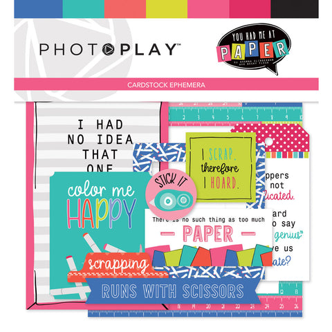 Photo Play Ephemera Die Cuts - You Had Me at Paper