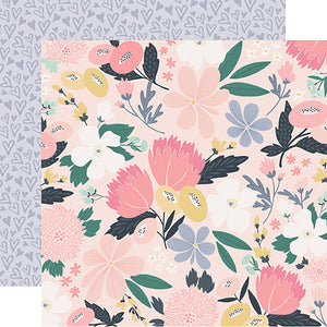 Echo Park Papers - You & Me - I Love Us Floral - 2 Sheets
