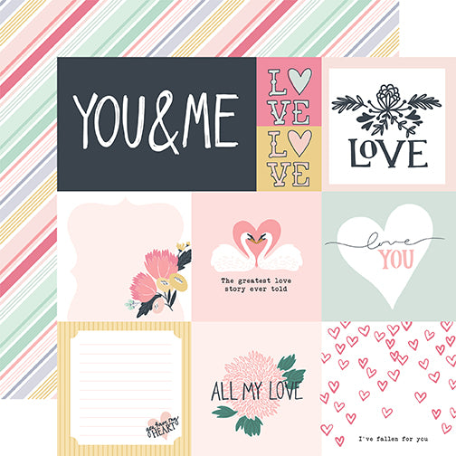 Echo Park Cut-Outs - You & Me - Multi Journaling Cards