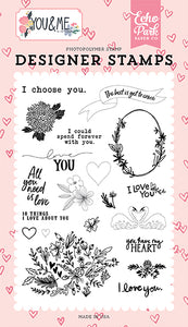 Echo Park Clear Stamp Set - You and Me - I Choose You