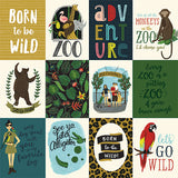 Echo Park Cut-Outs - Animal Safari - 3x4 Journaling Cards